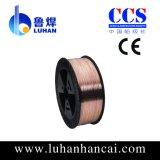 провод заварки Er70s-6 MIG твердого тела газовой защиты СО2 от 0.6mm до 1.6mm Мед-Coated