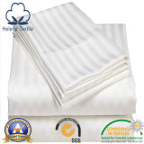 Tela del hotel 100%/casera/del hospital del algodón con la raya del satén de los 3cm/1cm/0.5cm/2.5cm