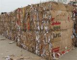 Горизонтальный пресс для бумажных отходов с конвейера