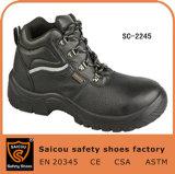 Tobillo-Cortar el zapato de seguridad de acero del trabajo industrial de la punta con el cordón Sc-2245