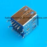 USB 3.0車の音声のための女性の縦のタイプUSBのコネクター