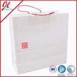 カスタム印刷およびロープのハンドルの贅沢なギフトの紙袋が付いているショッピングキャリア