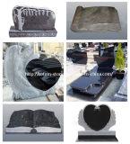 까만 Stone Monument, 묘지를 위한 Granite Grave Cross Tombstone/Headstone
