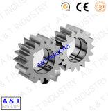専門のカスタム鋼鉄大きいギヤ、金属ギヤ車輪、二重直径の小さい拍車ギヤ