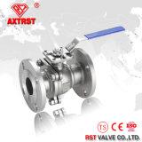 SS316 bohren voll ANSI-Edelstahl-Flansch-Hochdruckkugelventil