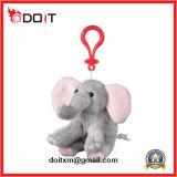 Catena chiave dell'animale farcito di Keychain della mucca del giocattolo su ordinazione della peluche per promozionale