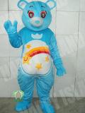Hi fr71 Fleur ventre Costume de la mascotte de l'ours bleu