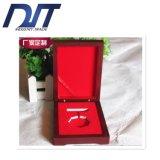 Caja de presentación de madera modificada para requisitos particulares del regalo de la joyería de la pintura
