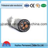 Изолированный PVC обшитый PVC бронированный кабель стального провода