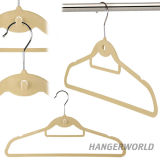 Chine Coloré Matt Velvet Flocked Baby Hanger pour les vêtements pour enfants