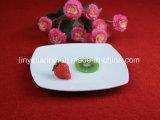 Piatto di ceramica quadrato di ceramica fine bianco puro di Cuty Dinnerset