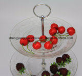 Heet verkoop de Plaat van het Glas van de Gift van Kerstmis voor de Decoratie van het Festival