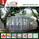 Пролет алюминиевой рамке ПВХ палатка с стекло боковой стенки