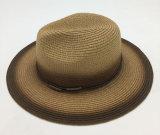 Sombrero natural de papel del sombrero de paja con la cinta asociada (Sh019)