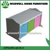 Деревянная мебель шкаф для хранения для детей с 3 выдвижной ящик (W-BB-2906)