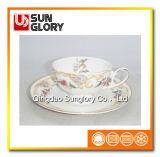 Tazza di caffè della ceramica di Cina di osso con le righe dell'oro di Bd049
