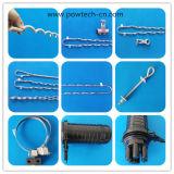 Gewundener Schwingung-Dämpfer/Stoßdämpfer (hohes Elastizität Kurbelgehäuse-Belüftung) für ADSS/Opgw Kabel