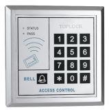 Diseño de moda el control de acceso con retroiluminación azul