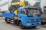 高品質4X2は販売のためのクレーンによってトラック3トンのジブクレーン5つのTのトラック取付けた