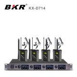 KX-D714 vier Systeem van de Microfoon van Lavalier van het Kanaal het Draadloze