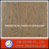 Azulejo Polished del suelo de seda crudo popular del granito (DES-GT026)