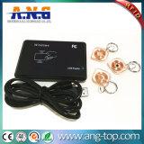 Impresión cmyk claro blanco de baja frecuencia Llavero RFID portátil