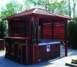 Waterdichte Tuin Outdoor Hot Tub SPA Houten Gazebo (SR889)
