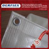 Tejido transparente de PVC de vinilo para tapa de Toldo Material impermeable