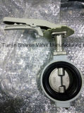 JIS 10k Aluminum Wafer Butterfly Valve with Hand Lever