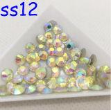 Ss6 Ss10 Ss16 Ss20 Ss30 Jonquil AB nicht heißer Verlegenheitrhinestone-Glassteinacrylnagel (FB jonquil ab/3A Grad)