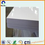 Tablero de publicidad Hoja de PVC blanco brillante Hoja rígida de PVC
