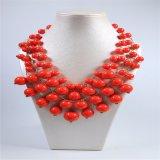 De nieuwe Juwelen van de Manier van de Halsband van de Parels van het Ontwerp Rode Acryl