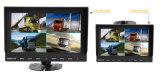 Monitor LCD de carro de 9 polegadas com 4 câmeras para sensor de backup / estacionamento de caminhão