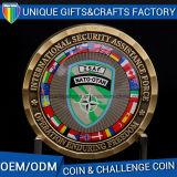カスタムロゴの彫版が付いている金属の挑戦硬貨