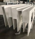 Countertop van de Ader van het Kwarts van Carrara Bruine voor Project