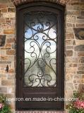 Kundenspezifische Metallaußentür-Sicherheit schmiedete Eisen-Eintrag-Türen