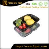 Rectangle Microwavable Food Grade en plastique recyclé claire à emporter Safe Fruits Déjeuner unique jetables fast food La cuisine de l'emballage PP conteneur de stockage