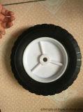 Roda de borracha sólida de 8 polegadas com borda de plástico