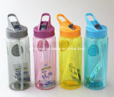 El plástico se divierte la botella de la coctelera de la proteína de la botella de agua
