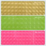 Color 20 que brilla el cuero decorativo impreso de la PU, cuero de zapato sintetizado
