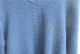 Мужчин длинной втулки V-образный вырез вязки Pullover свитер