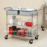 Carrello del metallo del NSF/carrello pratici di servizio per l'ospedale (CJ904590A3CW)