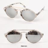 Óculos de sol redondos das mulheres da forma nova com barras dobro