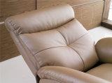 Silla manual de cuero del brazo del Recliner de Italia para la sala de estar usada