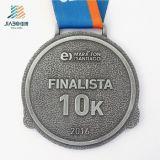 Medaglia corrente di sport del campione libero del diametro del pezzo fuso di maratona su ordinazione all'ingrosso poco costosa del metallo