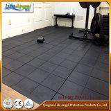 Mattonelle di pavimento di gomma del nero professionale di ginnastica, Indoor Rubber Mattonelle