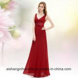 Вечернее платье долго Sexy двойной V-образный вырез горловины шифон женщин производителей одежды