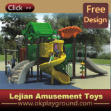 Très populaire en Europe terrain de jeux en plastique pour le parc de plein air avec la CE