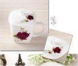 Tazza di tè della porcellana con stampa del fiore per i regali
