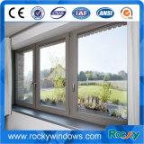 Style populaire enduit de poudre fenêtre coulissante blanc en aluminium
